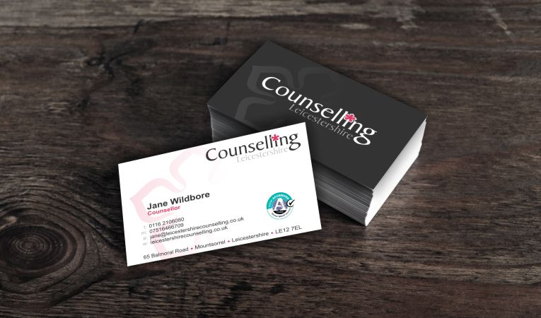 Leicestershire Counselling Business Cards