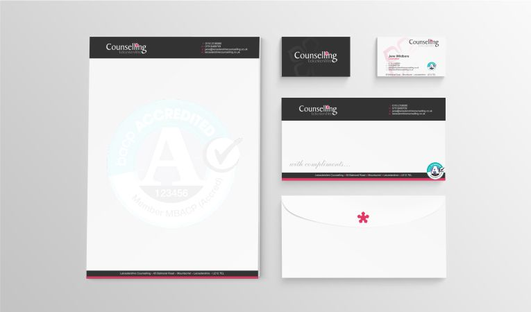 Leicestershire Counselling Stationary Set