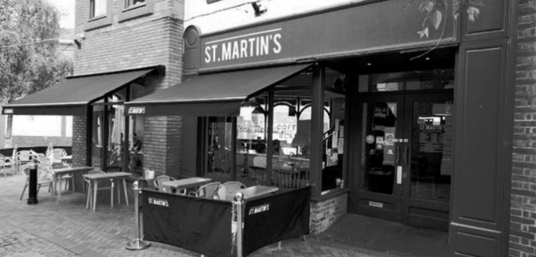 St. Martin's Coffee Signage