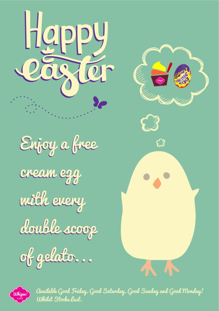 Whipee Gelato Easter Promotion