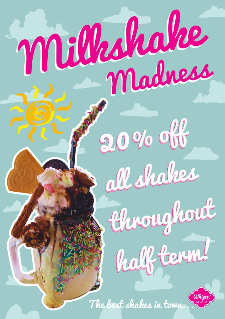 Whipee Gelato Half Term Promotion