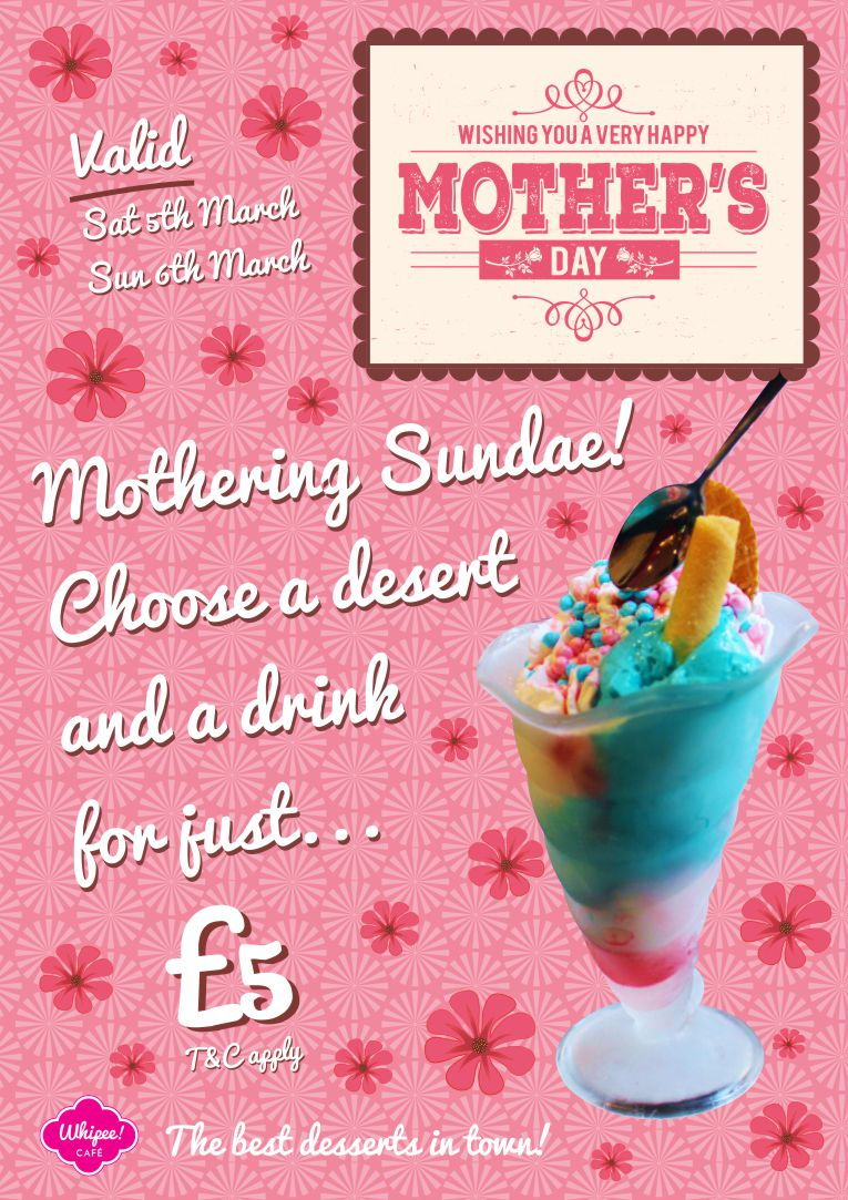 Whipee Gelato Mothers Day Promotion