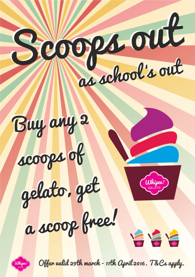 Whipee Gelato Summer Holiday Promotion